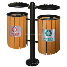 Cubo de basura al aire libre ordenado de WPC (DL91)