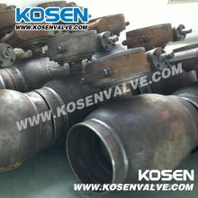 Válvulas de esfera soldadas completas de aço fundido com caixa de engrenagens