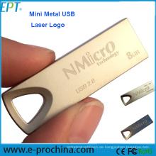Werbegeschenke Free Logo Metall Mini USB Flash Drive
