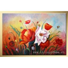 Xiamen Heiße Öl-abstrakte Blumen-Malerei-Segeltuch