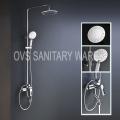 5 funciones de cromo montado en la pared de la ducha del cabezal de ducha