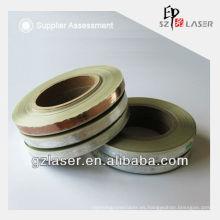 Tira de embalaje de sello caliente, caliente estampado de papel de aluminio