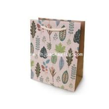 Custom impressão saco de papel de ponta com alça de corda