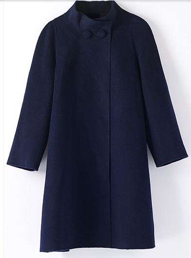 Women's Cashmere Knee Length Overcoat -6