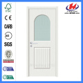 Jhk-G12 1/2 Lite 1 Panel Plank White Alabaster Glass Glass Folding Door
