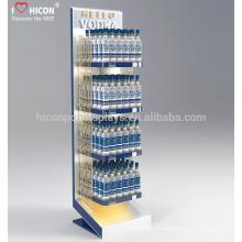 Para ayudarle a descubrir lo mejor de su marca de fábrica Metal piso 4 de agua estéril botellas de exhibición de botellas para la venta al por menor