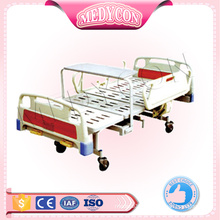 Clinic cold rolled steel plate 2 crank manual bed