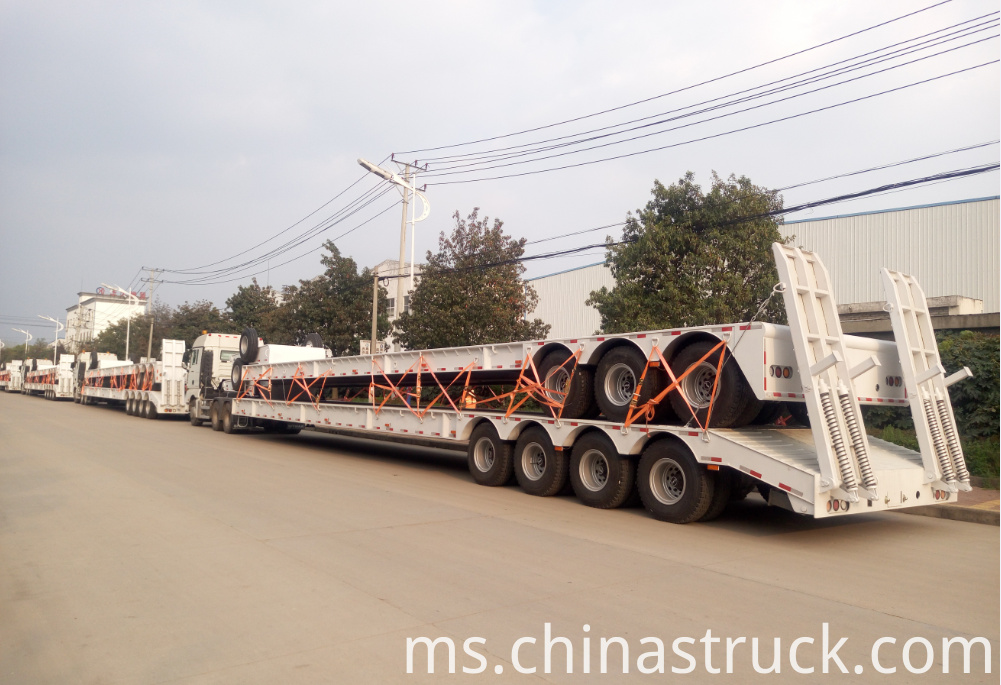 80Ton low bed semi-trailer