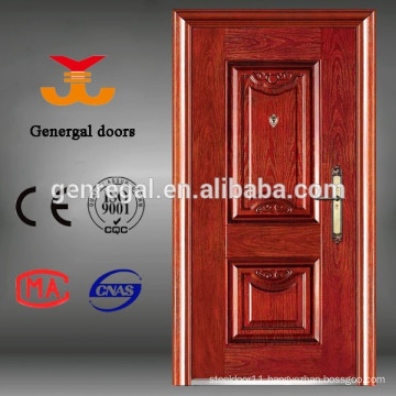 ISO9001 Anti-theft cheap low price front entrance steel security door