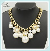 2015 Wholesale Fashion Pearl Jewelry, Big Pearl Statement Necklace for Women