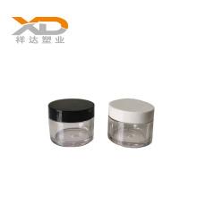 PETG empty paint black transparent cosmetic jar customized promotional 30g 50g cream jar