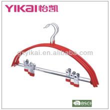PVC revestido cabide metal com clipes de metal