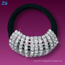 Bande de cheveux de luxe en cristal pleine, bandeau de mariage élégant, bande de cheveux français