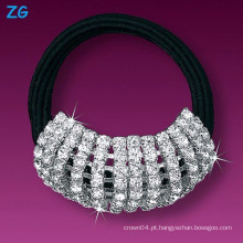 Luxuoso cheio de cristal meninas faixa de cabelo, headband casamento elegante, faixa de cabelo francês
