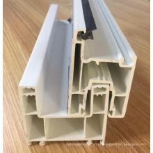Perfil deslizante de PVC com trilhos duplos
