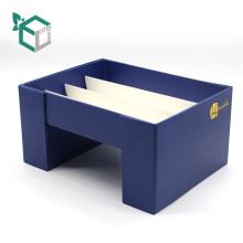Créatif personnalisé Double boîte de cadeau en verre de vin de papier ouvert