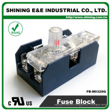 FB-M032SQ Panel and Din Rail Mounted 30A 2 Way Fuse Terminal Block