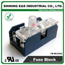 FB-M032SQ Bloco de terminais de fusíveis de 2 vias de painel e trilho DIN