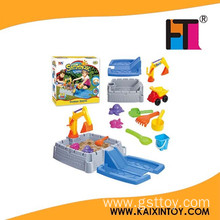 10186869 Sand Area Features Molded in Water Table and Roadways Construction big Digger Sand box