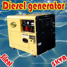 5kw / 5.5kVA trifásico refrigerado por aire diesel generador silencioso CE ISO BV SGS aprobado