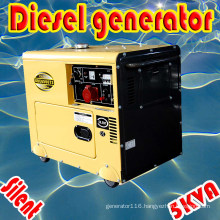 5kw/5.5kVA 3-Phase Air Cooled Diesel Silent Generator CE ISO BV SGS Approved