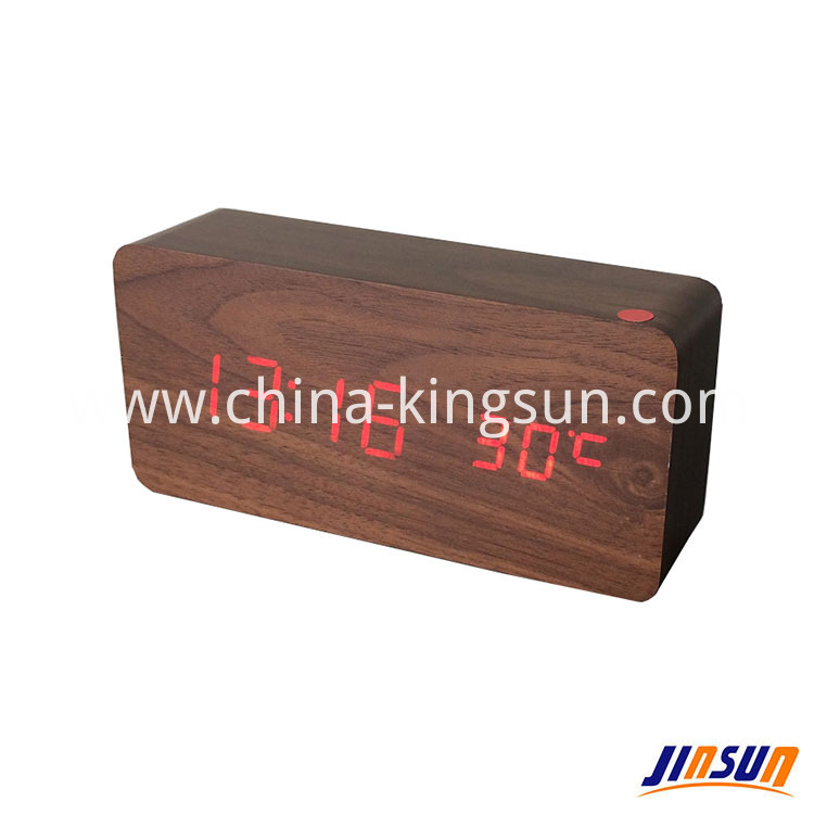 Wood Led Clock 104 16