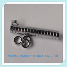 Small Ring Permanent NdFeB Magnet with Nickel Coating