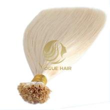 Extensions de cheveux humains à fusion pré-collée blonde U-tip
