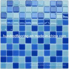 Mosaïque de piscine en mosaïque de verre de cristal (HSP306)