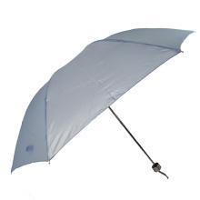 Simple design solid color  light weight 3folding umbrella for garden umbrella