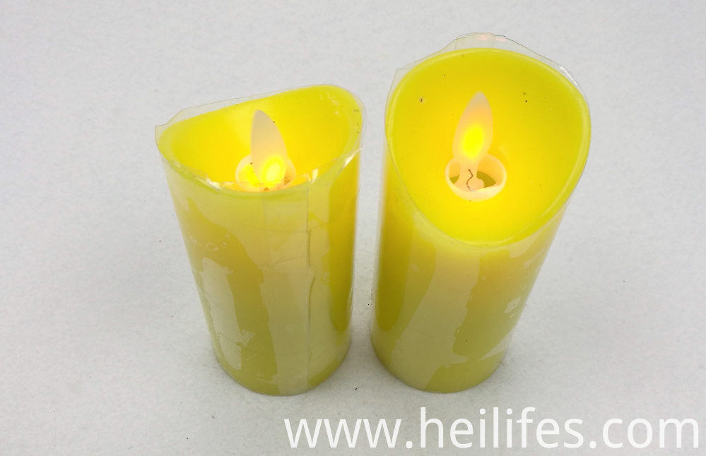 Customized Festival Yellow Candle Light
