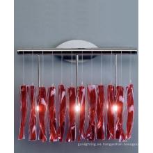 De vidrio rojo y decoración de las luces de pared de acero (MB8074)