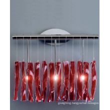 Red Glass & Steel Wall Lights Decoration (MB8074)