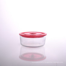 Borosilicate Round Glass Bowl with Lid