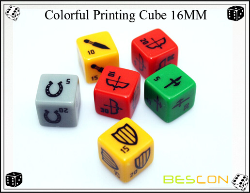 Colorful Printing Cube 16MM