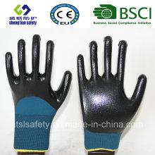 13Г полиэстер оболочки, для которых припасены 3/4 Нитрил покрытием рабочие перчатки (сл-ВП N 118)