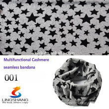 Custom Multifunctional star bandana tube scarf ,cashmere headwear