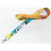 Dye Sublimation Printing Polyester Lanyards Logotipo