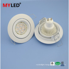 Multi -function 2015 GU10 8w led downlight white and metal coating for option