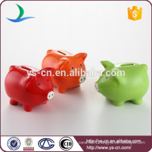 New Design Ceramic Lovely Pig Shape Coin Bank