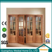 Porte 4 de porte / accordéon de bifolding de panneau pour l'usage de pièce d'intérieur