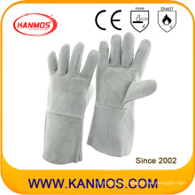 35cm Grey Cow Split Leather Industrial Hand Safety Welding Work Gloves (11101)