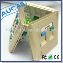 Single / Dual / Cuatro puertos RJ45 Keystone placa frontal (86 * 86 mm) similar a la placa frontal amplificador rj45