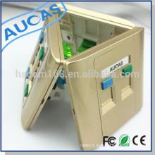 Single / Dual / Cuatro puertos RJ45 Keystone placa frontal (86 * 86 mm) similar a la placa frontal amplificador rj45
