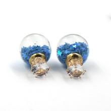 Boucles d'oreille en bouteille de verre