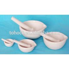 Venta caliente porcelana Al2o3 cerámica Mortero y Maja