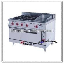 K012 Avec cuiseur à gaz et four à gaz électrique ou à gaz 4 brûleurs