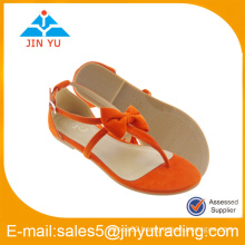 woman sandal shoes with flat heel