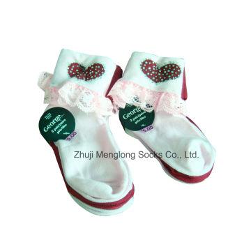 Meias de corte menina laço com strass brilhante meias de boa qualidade