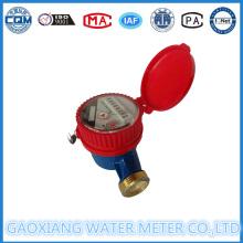 Compteur d'eau chaude en laiton à jet unique